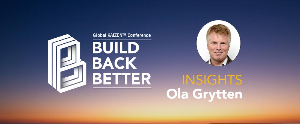 Conférence Build Back Better - Ola Grytten Insights